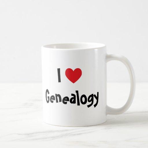 I Love Genealogy Classic White Coffee Mug