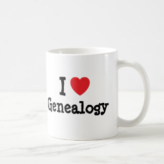 I love Genealogy heart custom personalized Mugs