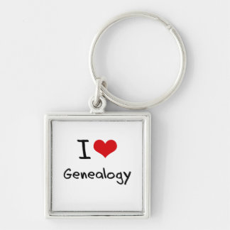 I Love Genealogy Keychains