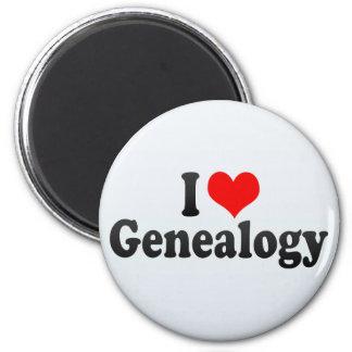 I Love Genealogy Fridge Magnet