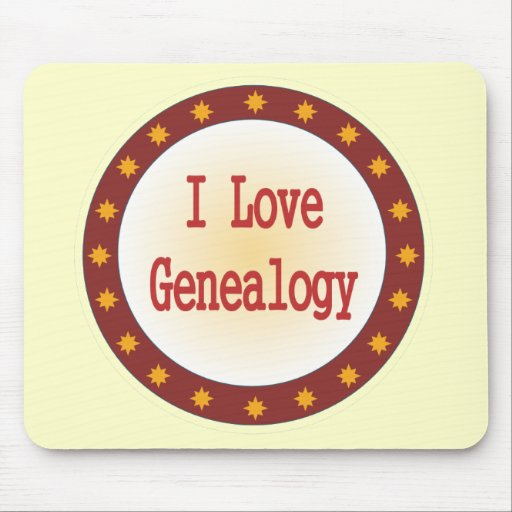 I Love Genealogy Mouse Pad