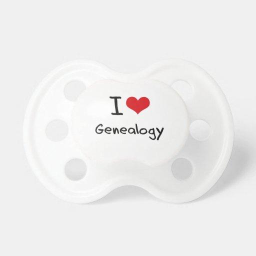 I Love Genealogy Baby Pacifier