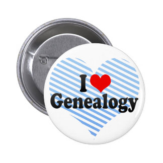 I Love Genealogy Pinback Button