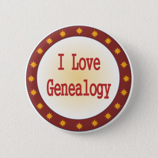 I Love Genealogy Pinback Button
