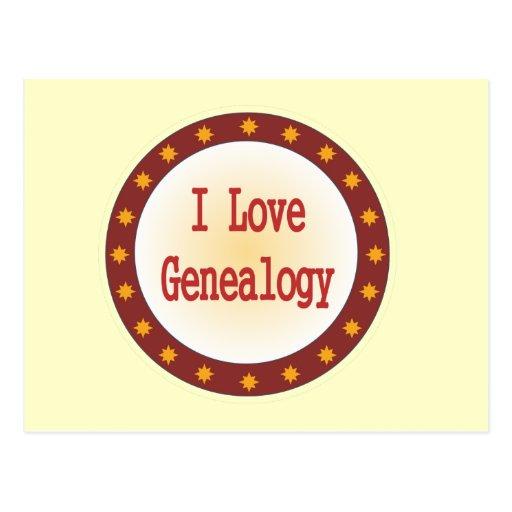 I Love Genealogy Postcard