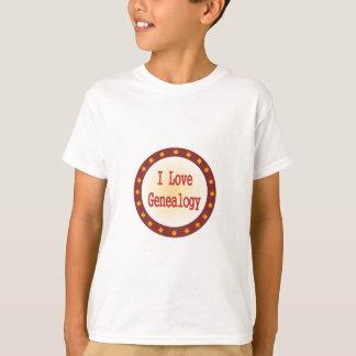 I Love Genealogy T-Shirt