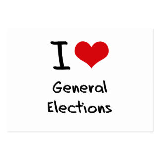 I Love General Elections Business Card Template