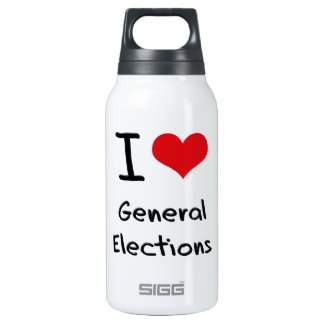 I Love General Elections 10 Oz Insulated SIGG Thermos Water Bottle