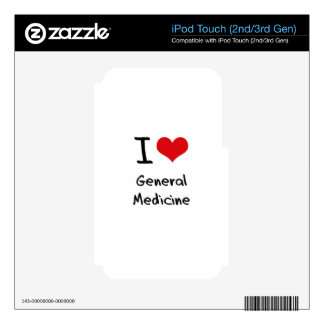 I Love General Medicine iPod Touch 3G Decal