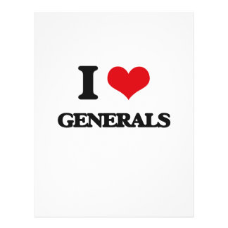 I love Generals Personalized Flyer
