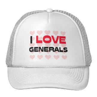 I LOVE GENERALS HAT