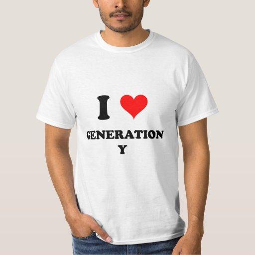 I Love Generation Y Shirts
