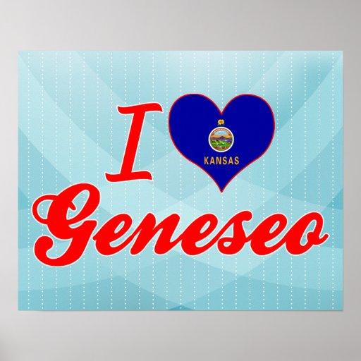 I Love Geneseo, Kansas Posters