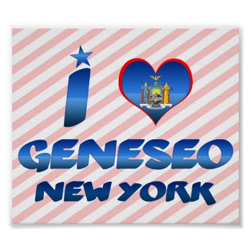 I love Geneseo, New York Print