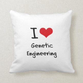 I Love Genetic Engineering Throw Pillows
