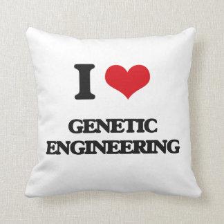I love Genetic Engineering Throw Pillow