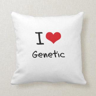 I Love Genetic Throw Pillows