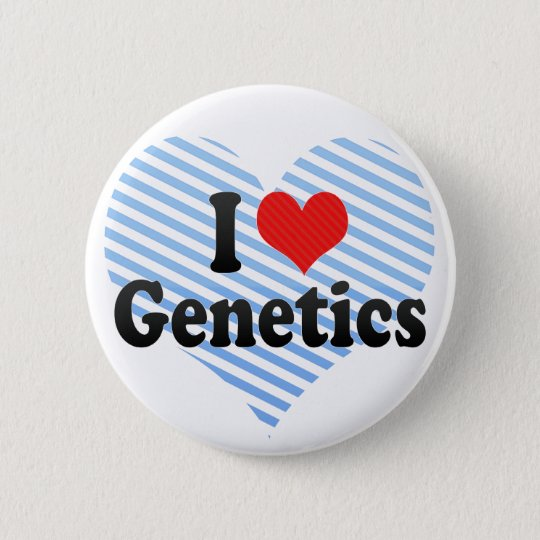 I Love Genetics Button