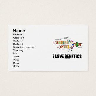 I Love Genetics (DNA Replication) Business Card