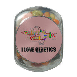 I Love Genetics (DNA Replication) Jelly Belly Candy Jar