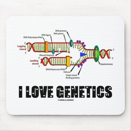 I Love Genetics (DNA Replication) Mouse Pad