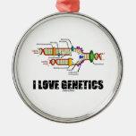 I Love Genetics (DNA Replication) Ornaments
