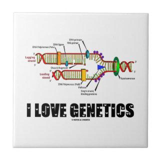 I Love Genetics (DNA Replication) Ceramic Tiles