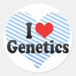 I Love Genetics Stickers