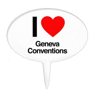 i love geneva conventions cake topper