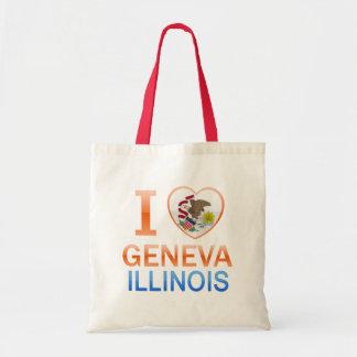I Love Geneva, IL Tote Bags