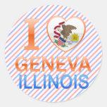I Love Geneva, IL Classic Round Sticker