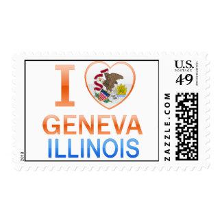 I Love Geneva, IL Stamp