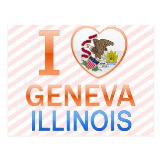 I Love Geneva, IL Postcards