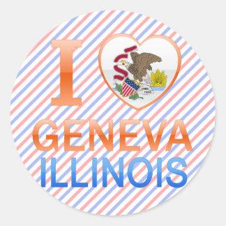 I Love Geneva, IL Round Sticker