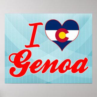 I Love Genoa, Colorado Poster