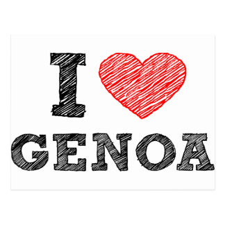 I Love Genoa Postcard