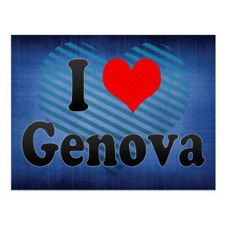 I Love Genova, Italy Postcard