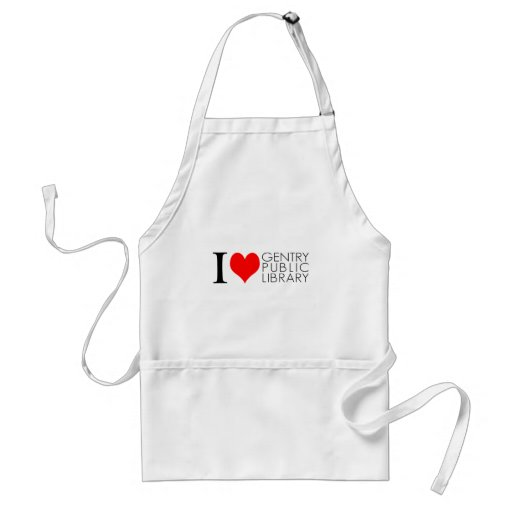 I Love Gentry Public Library Adult Apron