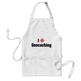 I Love Geocaching Adult Apron