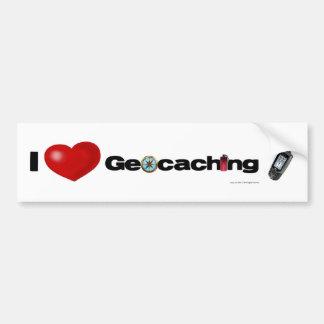 I Love Geocaching bumper sticker Car Bumper Sticker
