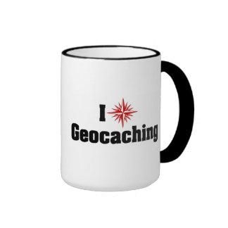 I Love Geocaching Coffee Mugs