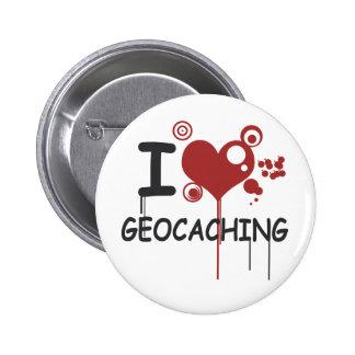 I love geocaching boton