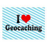 I love Geocaching Postcard