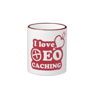 I love geocaching tazas de café