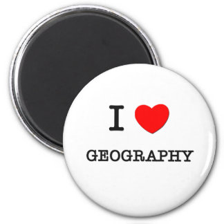 I Love GEOGRAPHY 2 Inch Round Magnet