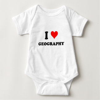 I Love Geography Baby Bodysuit