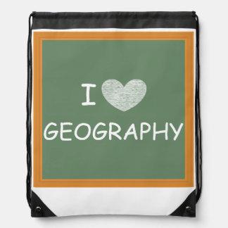 I Love Geography Backpacks
