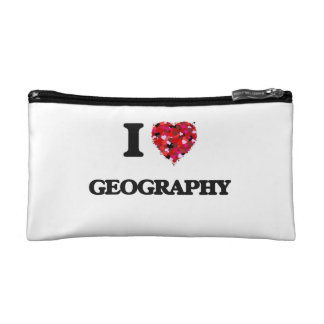 I Love Geography Cosmetic Bags