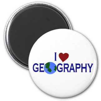 I Love Geography Magnet