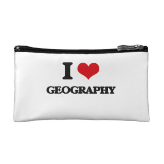 I love Geography Makeup Bags